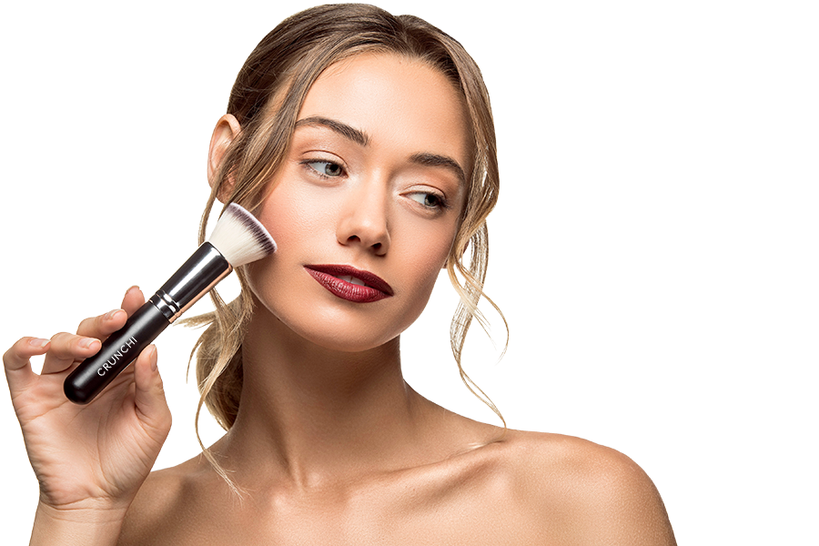 Woman using Flat Top Foundation Brush