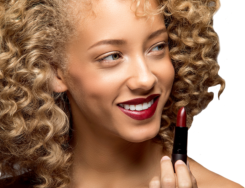 Woman applying Luxe Lipstick