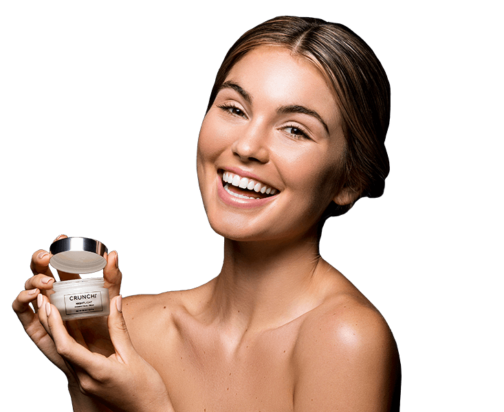 Nightlight Facial Cream on skin